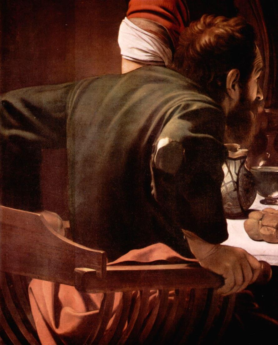 Christ in Emmaus, detail - Disciples of Christ [1] - Caravaggio